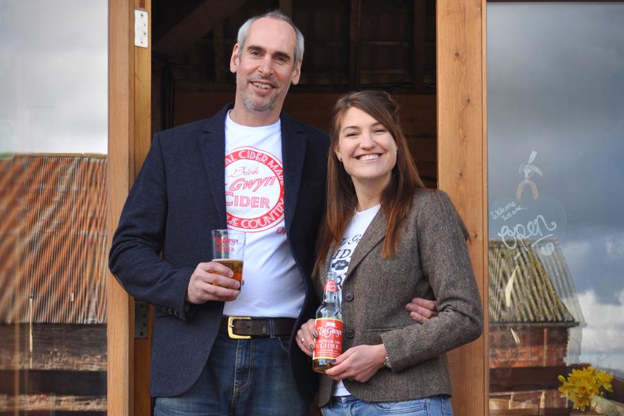 Alex and Laura Culpin of Ty Gwyn Cider