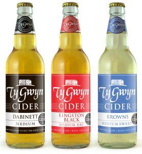 Ty Gwyn Cider bottles